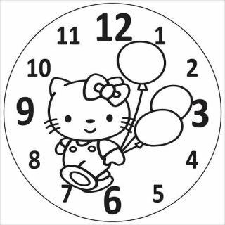 Песочный трафарет Часы Кошечка - Купить по цене от 120.00 руб.