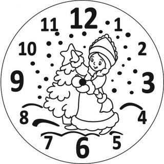 Часы Снегурочка
