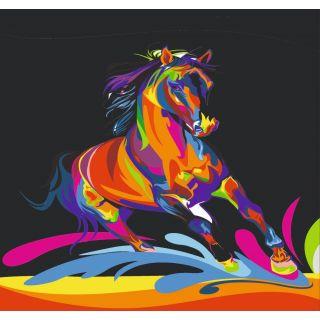 Трафарет Радужный Конь А3