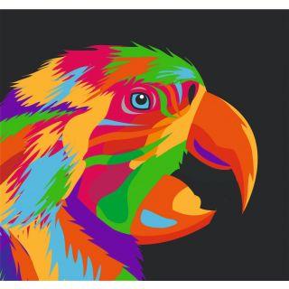 Трафарет Радужный Попугай А3