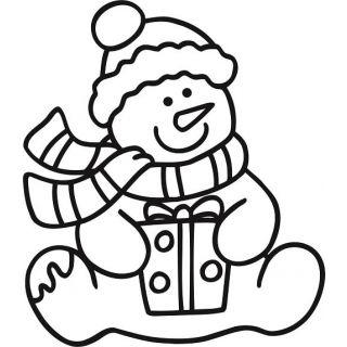Трафарет Снеговик №2 для раскрашивания песком
