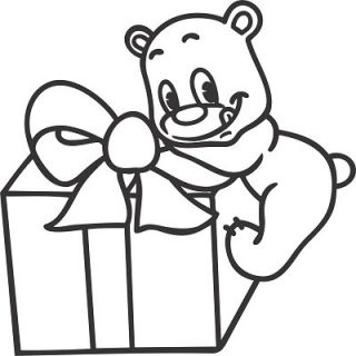 """Мишка с подарком А4"""