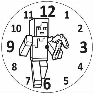 Часы Майнкрафт №1