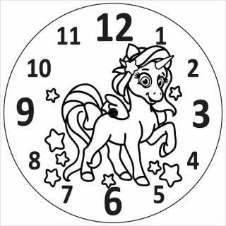 Часы Единорог №3